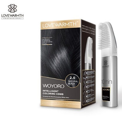 Lovewarmth Intelligent Color Comb 2 in 1 Low Sensitivity Formula Permanent Hair Color Easy Dye at Home