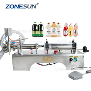 ZONESUN 500-2500ML Pneumatic Piston Liquid Filler Sampo Susu Jus Cuka Kopi Minyak Minum Air Mengisi Mesin