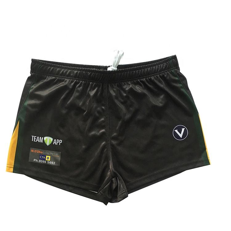 Custom Sublimation Sport Shorts Black Mens Shorts Black Pockets China OEM Service Trousers