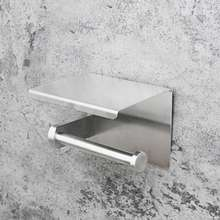 Amazon Hot Selling 304 Stainless Steel Toilet Paper Holder Shelf Without Drilling