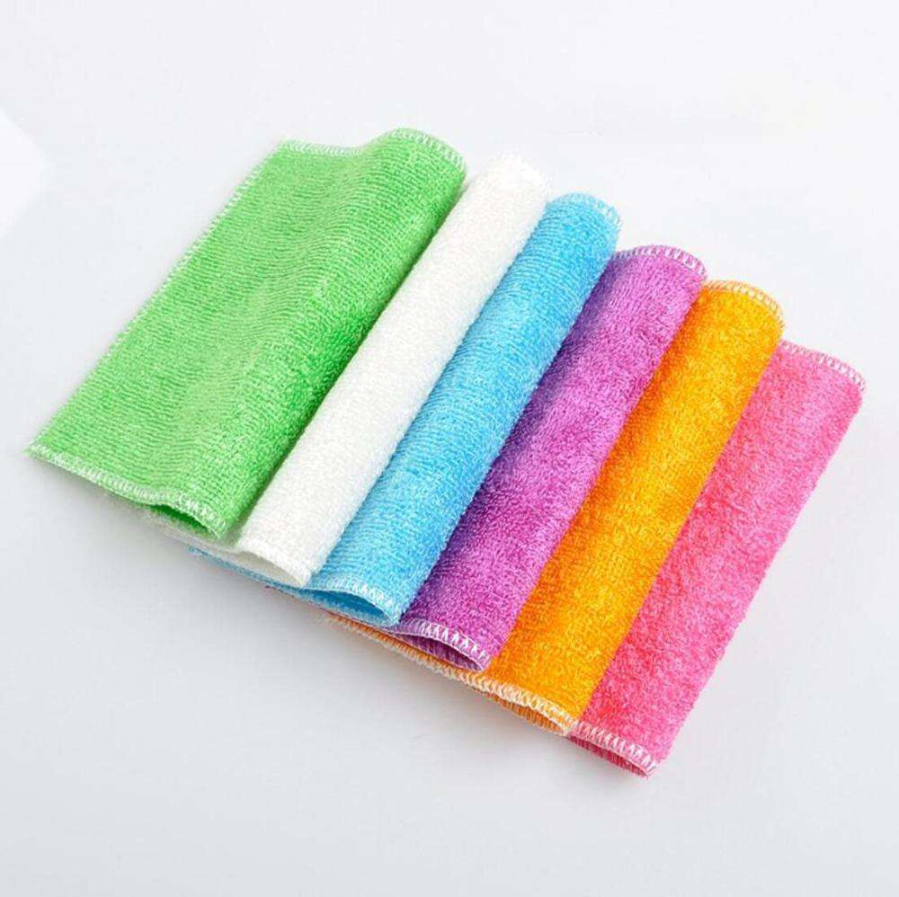 Factory Price Eco Friendly Double Layers Bamboo Fiber Cleaning Cloth Small Order Kitchen Dish Towels Cloth