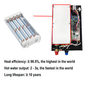 Hannover promotion Long lifespan over 10 years 6.0kw 6.5kw 7.0kw electric tankless instant hot waters