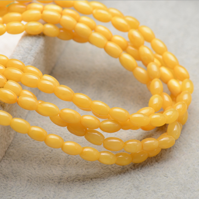 Genuine beeswax certified amber natural yellow waist drum accessories beads beeswax amber beads