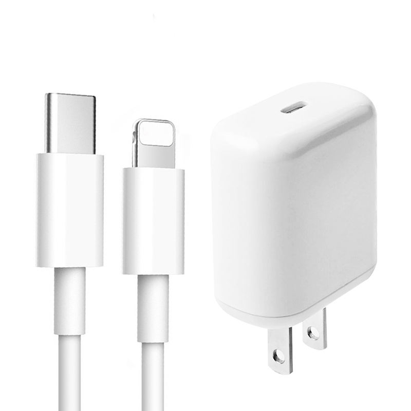 18W PD Fast Charger Type C USB-C PD Adapter Usb Wall Charger 18W PD SetとCableためiPhone 11 Pro Max