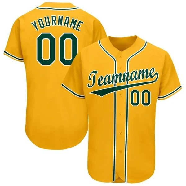 College Oakland authentic design polyester tracksuit infant yellow baseball jerseys