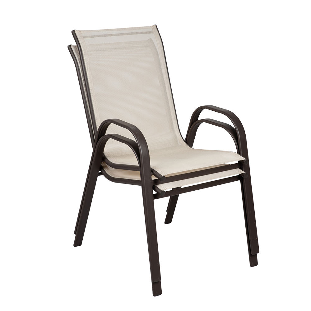 Hot Sell Cheap Steel Frame Bistro Chair Mesh Garden Chair Outdoor Patio Chairs