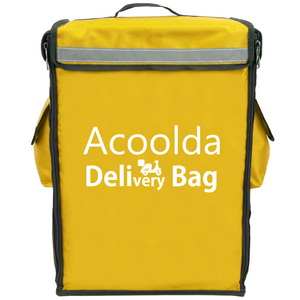 Acoolda Big Capacity Food Bag Food Delivery Backpack Motorcycle Front Load Insulated Delivery Backpack