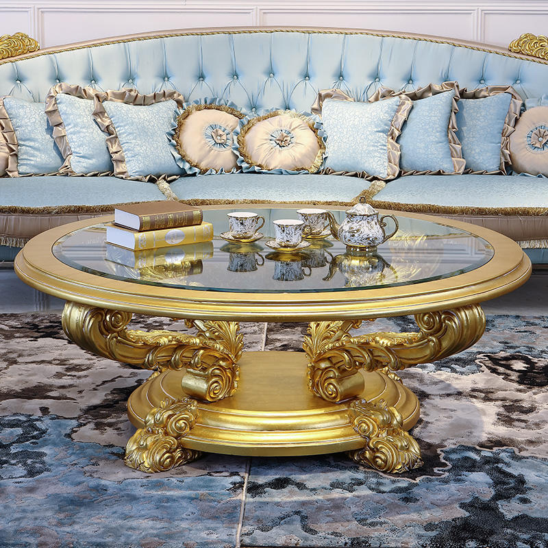 Italian luxury furniture For Home Baroque Golden Living Room Furniture Sofa Set
