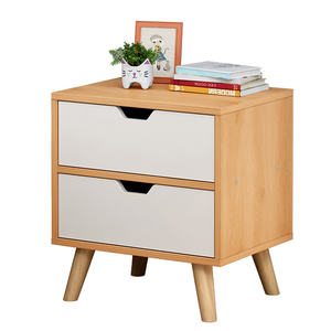 Modern minimalist night stand storage cabinet double pumping cabinet for bedroom