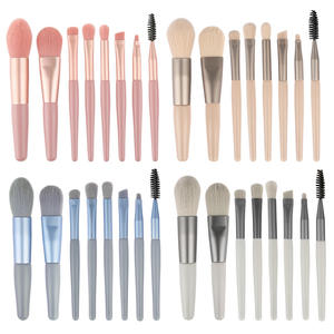 HOT selling style product 8 pcs silver handle makeup brush set