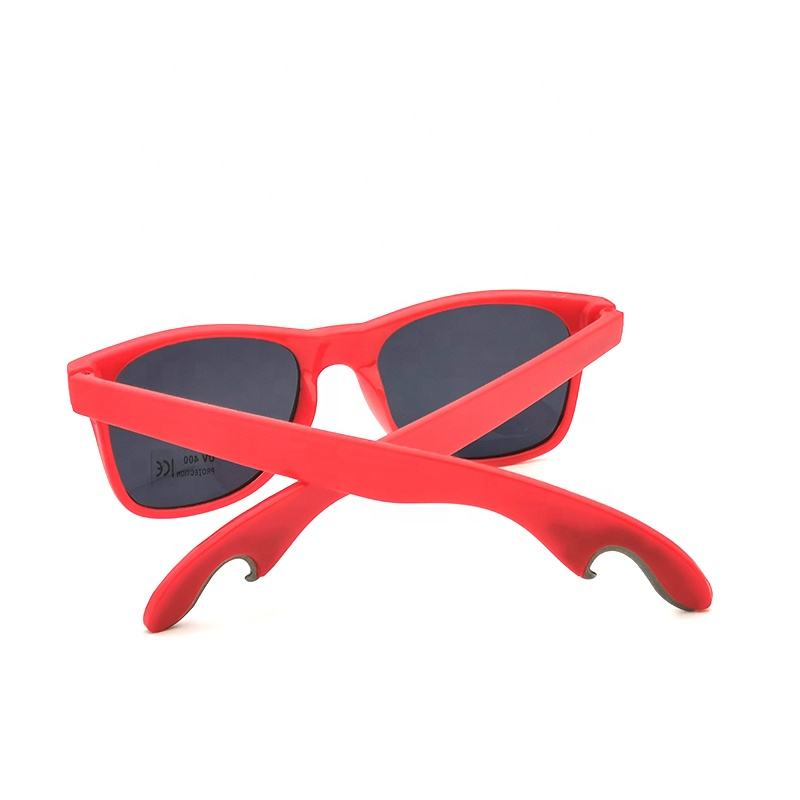 MENS LADIES RED BLACK BOTTLE OPENER SUNGLASSES SUMMER PARTY BBQ BEACH