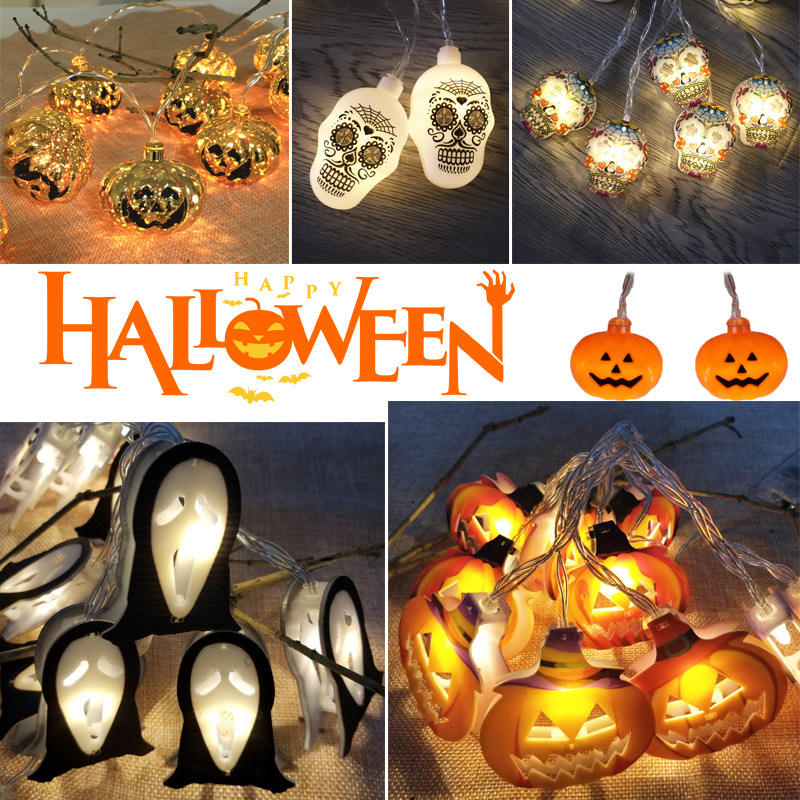 LED Halloween Decoration Lights Spider Decorations Pumpkin Party Decoration