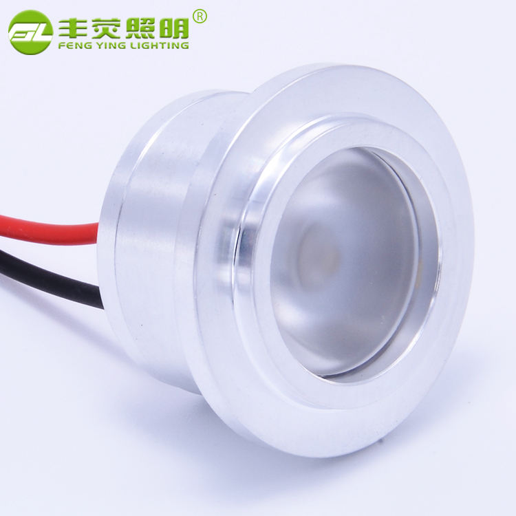 Factory direct supply recessed cutout 30mm cob led mini spot light 1w 12v