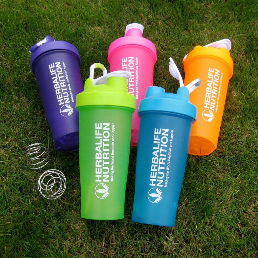 Ronya custom logo drinking 700ml plastic water bottle protein shaker for fitness