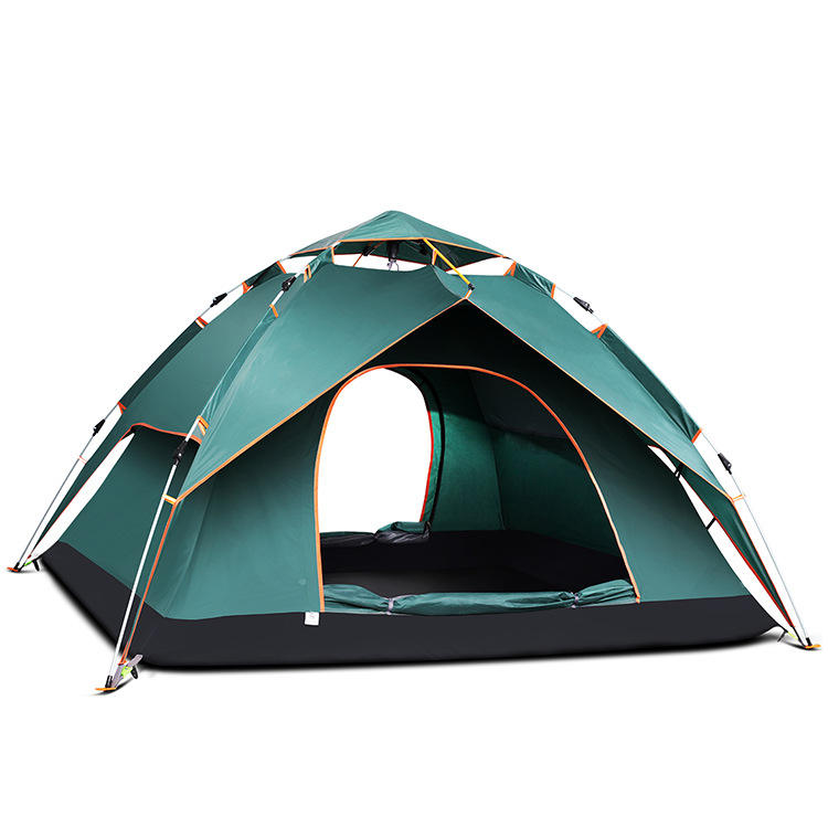 Hot tent winter camping large pop up family 3-4 person outdoor waterproof tents camping outdoor for sale