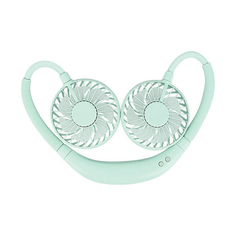 Promotional Mini Axial Flow Fan Neckband Fan Lazy Person Hand-Free Neck Fan 2020