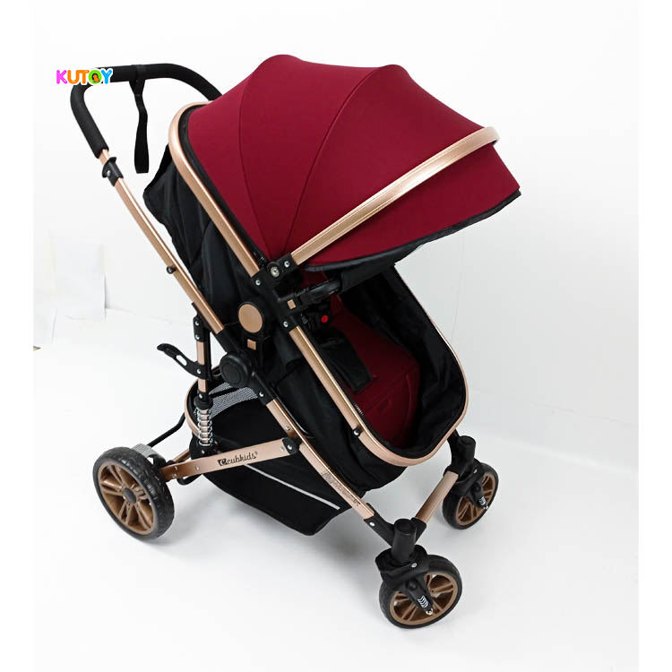 Kinderen Paraplu Opvouwbare Kinderwagens 3in1 Met Car Seat <span class=keywords><strong>Roze</strong></span>
