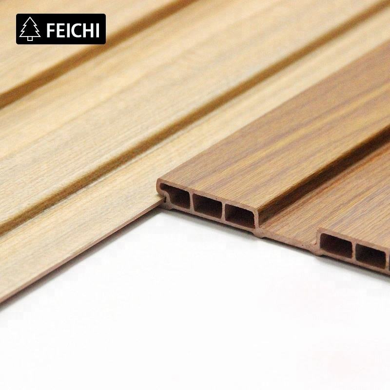 FEICHI Interior Laminated Pvc Shower Waterproof Paneling Wood Plastic Composite Wpc Wall Panel
