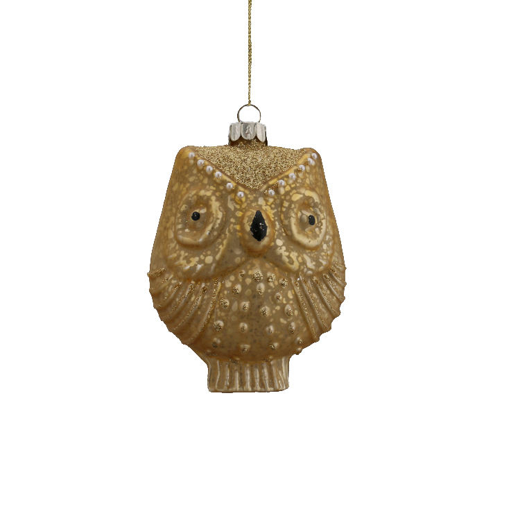 Owl shape Glass Christmas Tree Hanging Balls