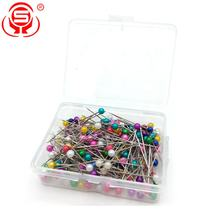 Wholesale 200-Piece Packed Multi-color Plastic Ball Pearl Head Quilting Sewing Pins For Art Crafts