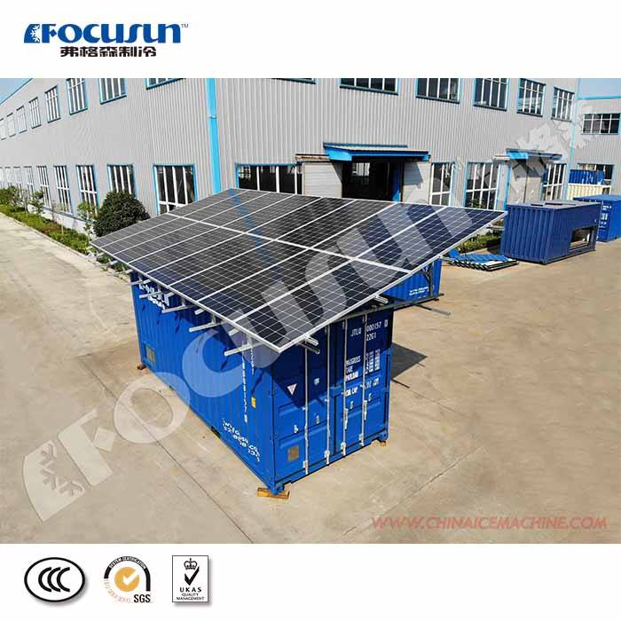 Saving power 20ft containerized solar powered cold room easy moving