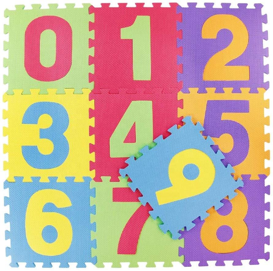 Foam Soft Play Mat Toy Puzzle Game With Numbers Toy For Kid 29.5*29.5*0.85 CM(10PCS)