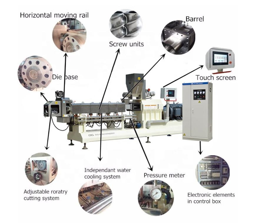 China food extruder production line/Nutritions rice instant powder food extruder exports/Baby rice powder making machine