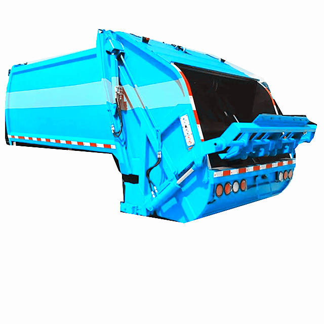 For chassis truck mounted 10cbm garbage compactor truck body
