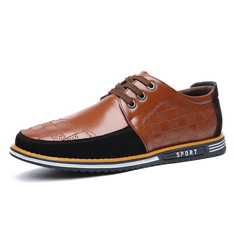 Top sale guaranteed quality genuine men office genuine leather shoes