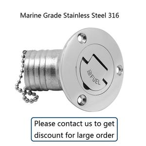 ISURE MARINE New Casting Mirror Polished Stainless Steel 316 Boat Metal Letter Water Deck Fill//Filler1-1//2 with Key Cap for Boat Yacht Caravan