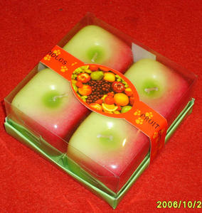 Handmade Fruit Shape Novelty Candles Scented Feature In Gift Boxes Trimmed with Gold Ribbons