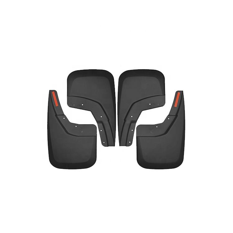 High Performance Custom MATTE BLACK ABS PLASTIC Pickup 4Pcs Mudflap Splash Guard Front & Rear Mud Flaps for 14-16 Silverado