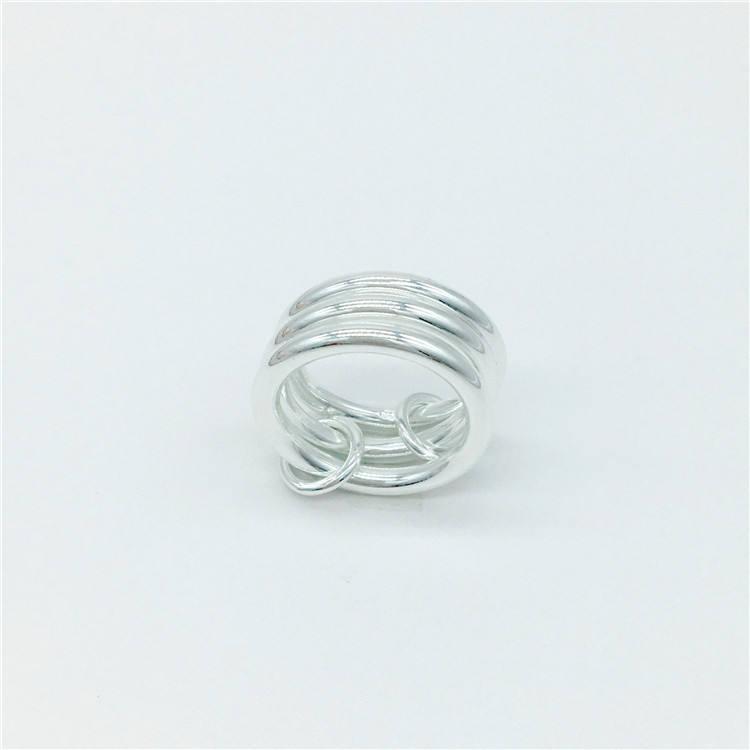 925 стерлингового серебра 3 Круги кольца ВЧ кольца модные серебристые несколько носить <span class=keywords><strong>ювелирные</strong></span> <span class=keywords><strong>изделия</strong></span>