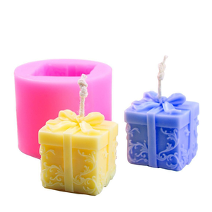 Custom 3D Christmas Cuboid Shape Moldes De Silicona Para Velas Silicone Candle Molds for Soap and Candles Making