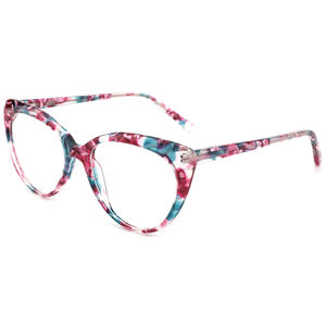 Lady Vintage Cat Eye Retro Optical Italian Acetate Eyeglasses