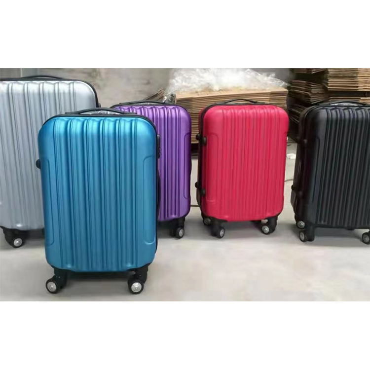 2020 Factory cheap price 100% ABS hard travel baggage with Iron trolley