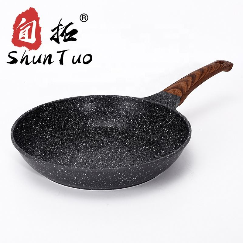 korean induction kitchen non sticky stones clay marble ceramic granite coating aluminum non-stick fry pan non stick frying pan