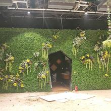 Highly simulated plastic grass wall real-touch plants hanigng on the wall