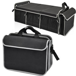 Custom 2020 Foldable High Quality Auto Back Seat Car Boot Trunk Storage Organizer for SUVs