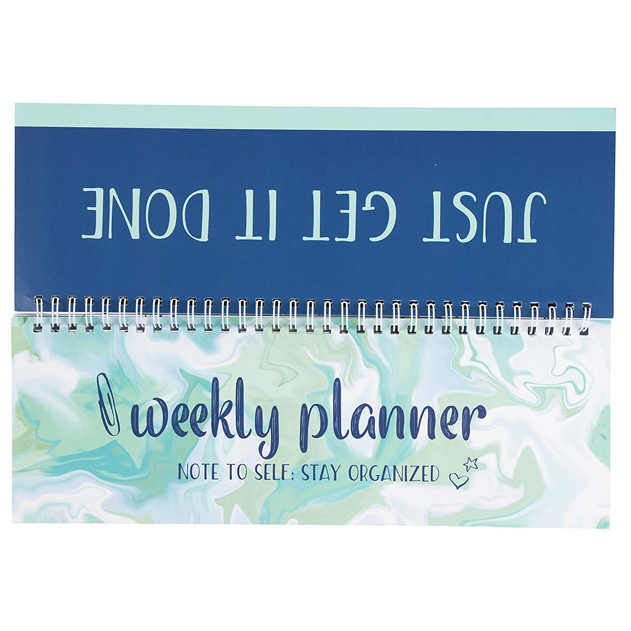 Myway Custom Weekly Spiral Custom Planner Notebook of Undated Desk Calendar for Teachers and Students Class Schedule
