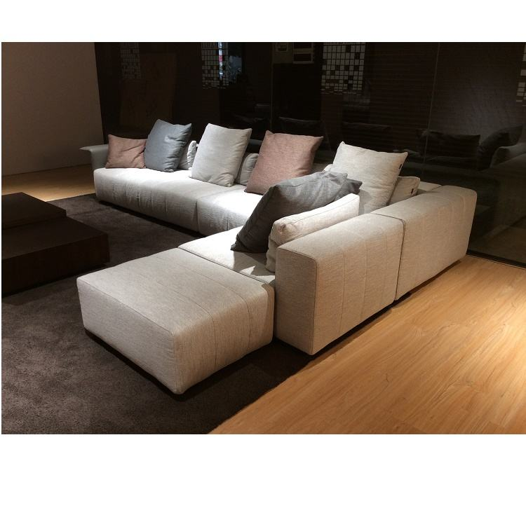 High-End Wol Gemengd Stof Sectionele Sofa Duurzaam Luxe Sectionele Bank