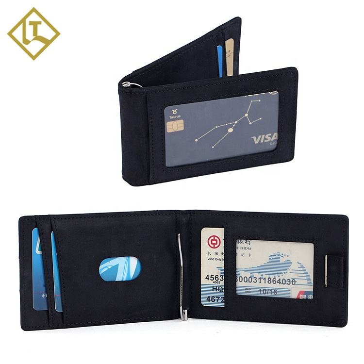 Unique Designer Euro Style RFID Leather Mens Slim Card Holder Wallet