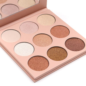9 Colors Glitter Shimmering Professional Powder Matte Eyeshadow palette eye shadow custom