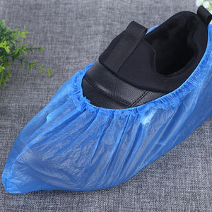 2020 Waterproof Blue Plastic CPE Polyethylene Disposable Shoe Covers