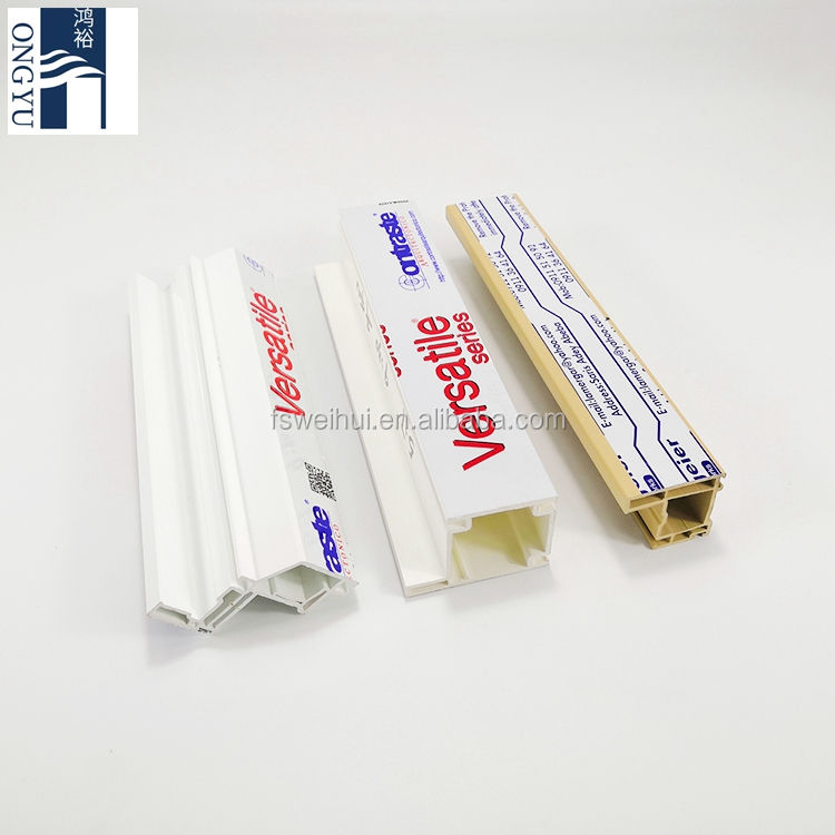 Trade Supplier Pvc Flexible Sheet Plastic Door Profile White Panel Extrusion Fix Frame 80mm Anti-uv Upvc Window Mullion