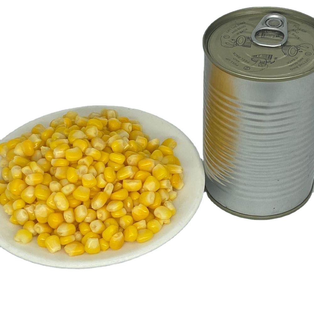 Natural Food 400g Yellow Canned Corn With Vacuum Packed Sweet Corn Canned