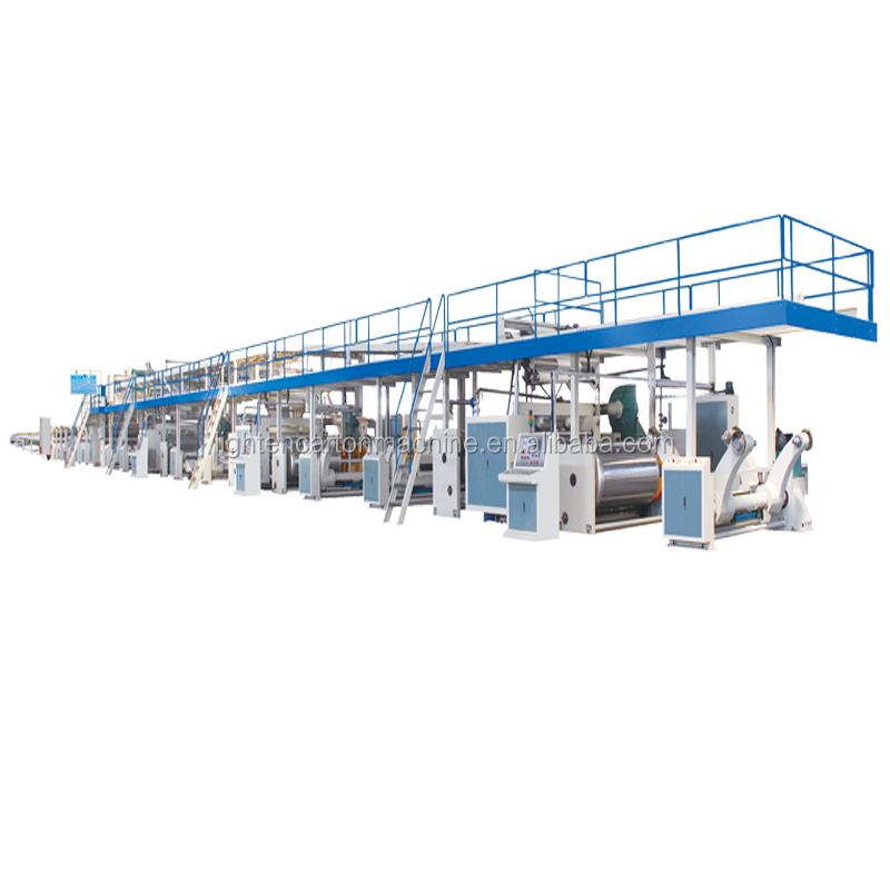 High speed Automatic double wall 3 5 7 layer corrugated box cardboard paperboard carton production line