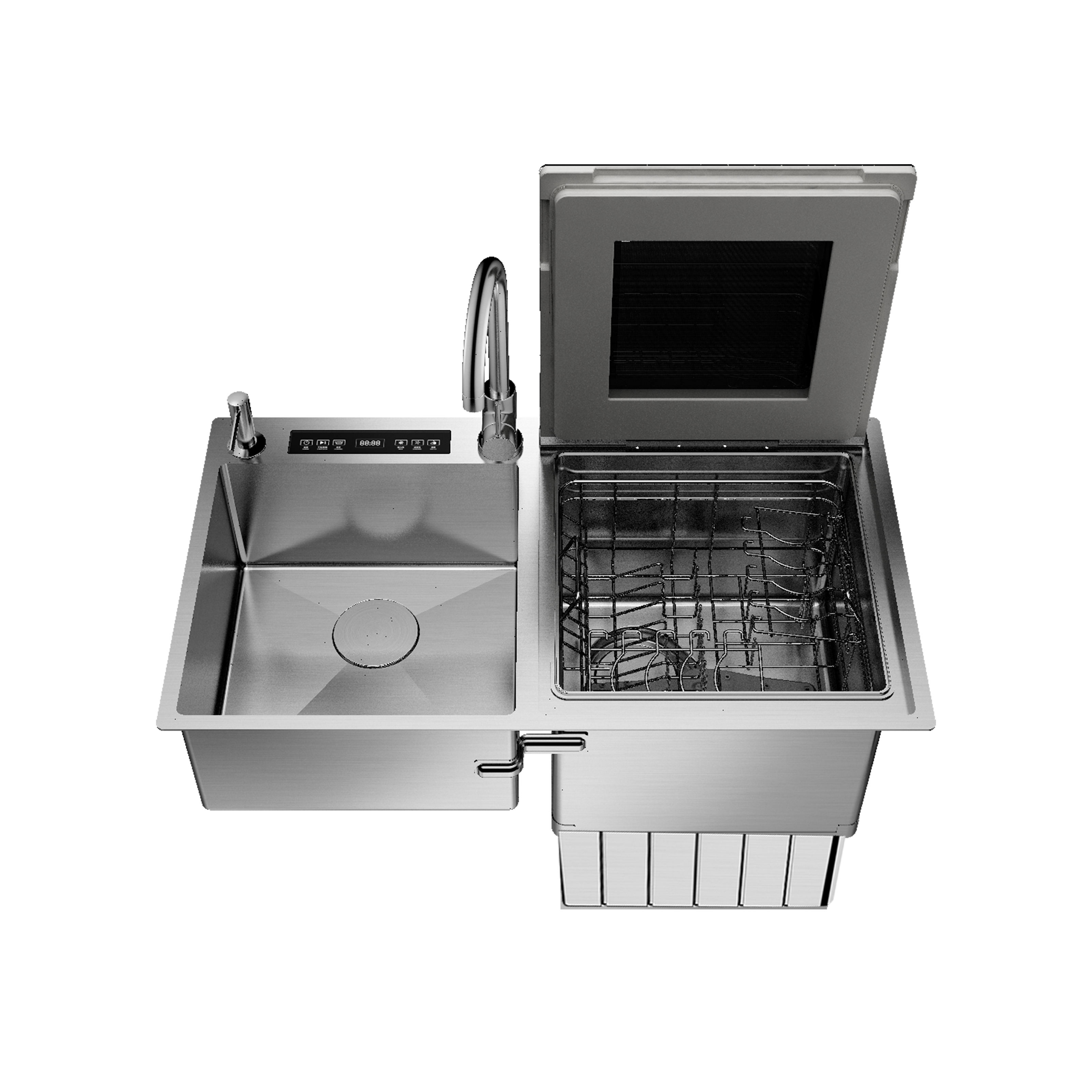 Automatic Dishwasher Sink Machine Washing Stainless Steel Countertop Dishwashers For Home