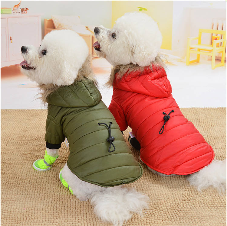Manufacturer wholesale button design cotton winter warm pet dog coat