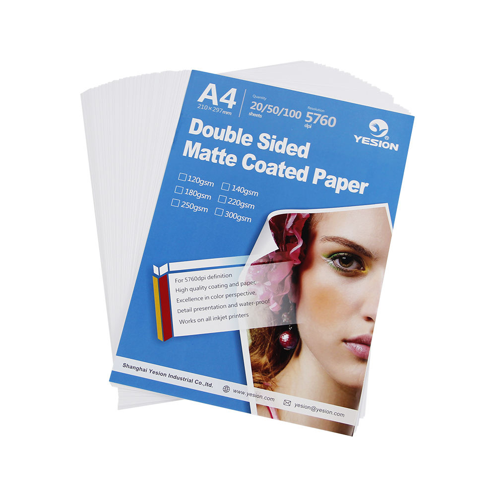 China Professional inkjet matte cast coated a4 a3 photo paper business card printing paper